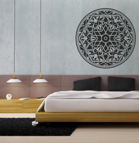 Artesanato Açoriano Florianopolis ~ Adesivo de Parede Mandala Artwork